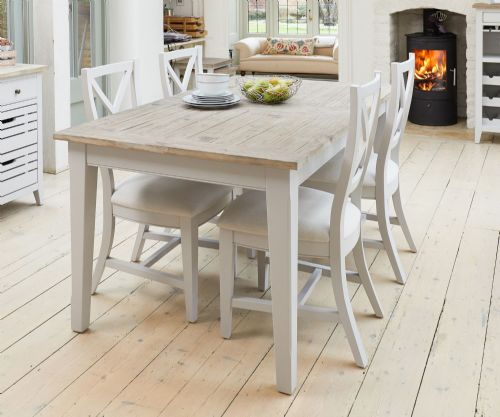 Signature Grey Extending Dining Table, Chair and Bench Sets